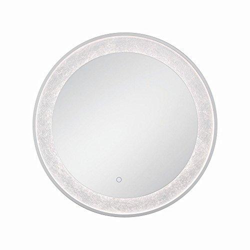 Eurofase 33832 012 Edge Lit Silver Leaf Mirror  30   Silver Finish