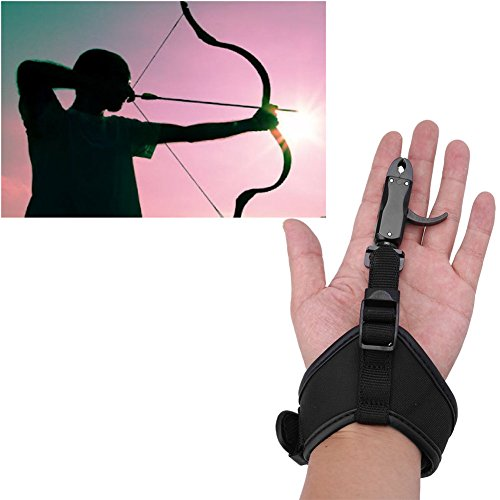(Archery Compound Bow Release Caliper Release Bow Hunting Release Aid with Adjustable Wrist Strap)