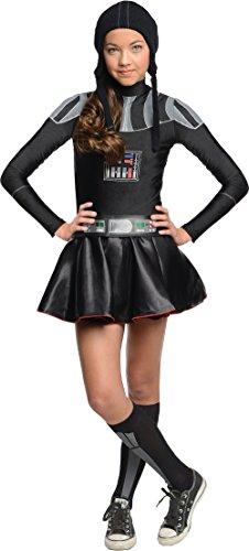 Star Wars Darth Vader Tween Costume Dress, Small (Darth Vader Halloween Costume Kids)