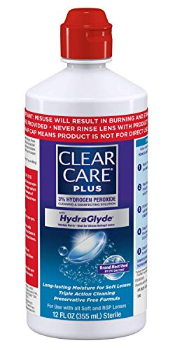41XPWiI7IwL - Clear Care Plus Cleaning and Disinfecting Solution with Lens Case, Twin Pack, 12-Ounces Each