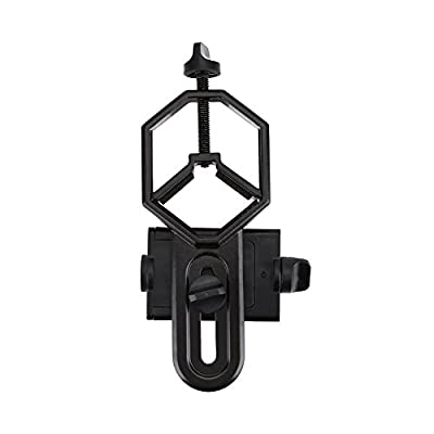 Richer-R Universal Cell Phone Photography Adapter Mount, Aluminium Alloy Telescope Universal Cellphone Mount Suitable for Monocular Rifle Scope Telescope
