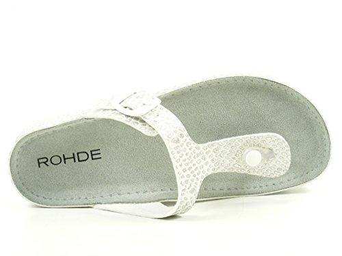 Rohde Riesa 5803 Zuecos de material sintético mujer Silber