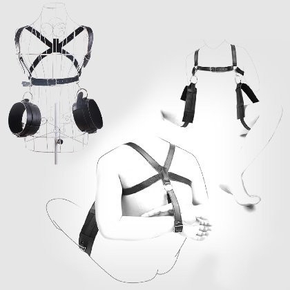Akstore 2014 New Arrive Sturdy Sling Spreader Thighs Hand Restraint Bondage Unisex Harness with Adjustable Designed Under the Bed Restraint Tool,easy Access & Portable Pleasure Cuffs for Fetish Sex Game Tigh Restraint Slig Spreader Spead Eagle Sling Sex Position Master for Finky Lover Game