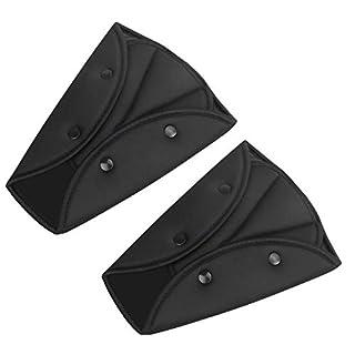 Seat Belt Adjuster for Kids,2 Packs Car Seatbelt Safety Cover Triangle Positionerfor Short People,Firm Auto Shoulder Neck Strap Adjuster,Protective Safety Strap Adjuster Pad Harness (Black)