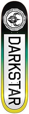 Darkstar 10012383 Timeworks Deck, Yellow Fade, Size 7.75 - Darkstar Skate Decks