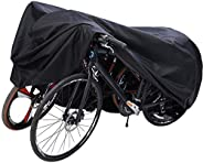 Ohuhu Bike Cover Waterproof XL/XXL for 2 or 3 Bikes Outdoor Storage Windproof Bicycle Covers for Mountain Bike