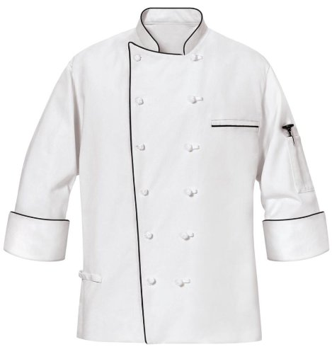 Phoenix Master Chef Coat with Black Piping, Large by Phoenix