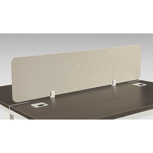 Element Fabric Desktop Divider 46''W Beige Fabric by NBF Signature Series