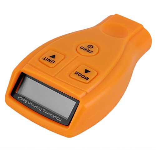 Buwico Digital Automotive Coating Thickness Gauge LCD Measuring 0-1.80mm/0-71.0 mil Automotive Coating Ultrasonic Paint Iron Thickness Gauge Meter Tool ()