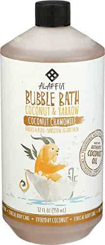 Alaffia, Everyday Coconut Bubble Bath for Babies & Kids, Gentle for Sensitive to Very Dry Skin Types, Coconut Chamomile, Ethically Traded, Non-GMO, 32 oz