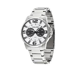 INTELIHANCE. 14100JS/01M - Reloj de Cuarzo para Hombre, Correa de Acero Inoxidable Color Plateado 1
