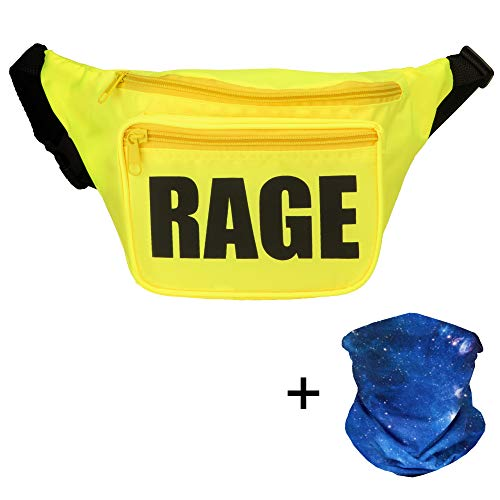 Rave Fanny Pack, Neon Fanny Pack, Party Fanny Pack - Includes Galaxy Face Mask Bandana ()