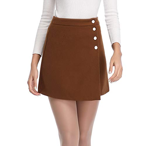 Button Fly Cotton Skirt - 3