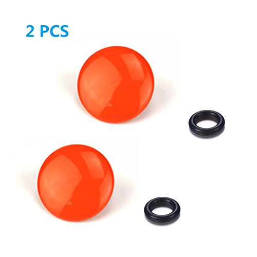LXH 2 PACK Orange Convex Metal Soft Release Button Finger Touch Fits any Standard Threaed Release For Fujifilm X-PRO2, XPRO-1,X100F, X100T, X100, X100S, X10, X20, X30, X-E1, X-E2,X-E2S, STX-2, X-T10
