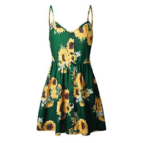 Floral Spaghetti Strap Summer Boho Dress,Londony ღ Women