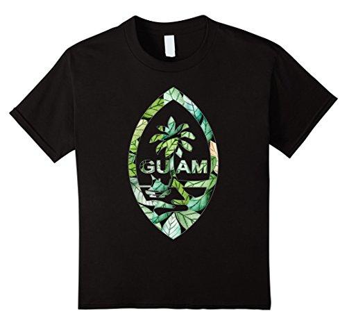 Kids Guam Seal Jungle Style Tee Shirt 6 Black