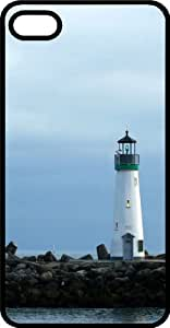 Lighthouse Black Rubber Case for Apple iPhone 4 or iPhone 4s by icecream design