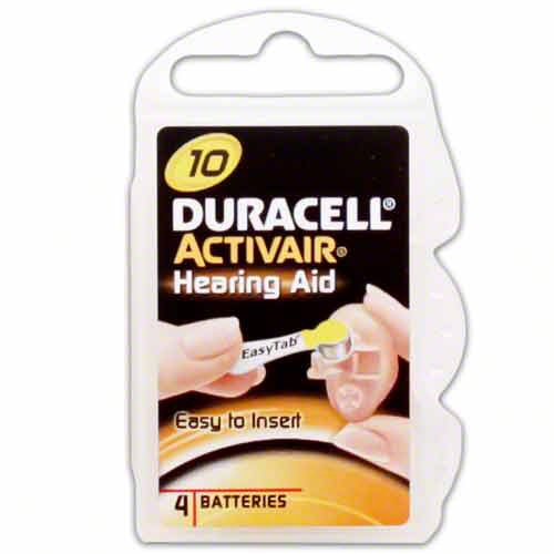 Duracell Hearing Aid Batteries Size 10 pack 40