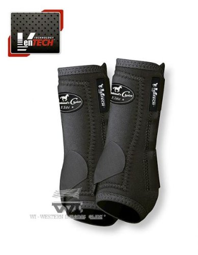 Professionals Choice Equine Sports Medicine Ventech Elite Rear Leg Boot, Pair (Medium, Black) by Professional's Choice