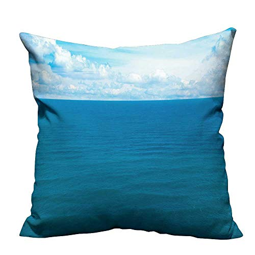 YouXianHome Household Pillowcase The sea of Gentle Breeze Perfect for Travel(Double-Sided Printing) 27.5x27.5 -
