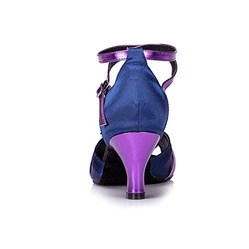 misu - Zapatillas de danza para mujer Multicolor azul y morado