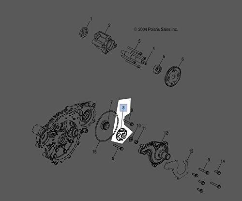 Impeller Watercraft (Genuine Polaris Part Number 5433684 - IMPELLER-WATER PUMP ** for Polaris ATV / Motorcycle / Snowmobile/ or Watercraft)