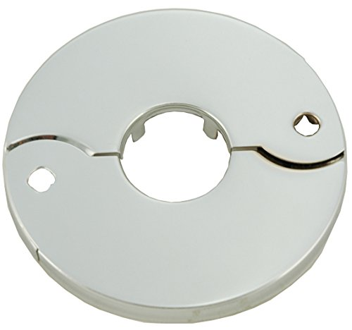 Chrome Plated Floor and Ceiling Split Flange Fits 1/2-Inch Iron Pipe Or 3/4-Inch Inside Diameter copper - By PlumbUSA
