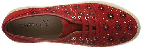 Caprice Damen 23600 Derby Rot (rood Suede 524)