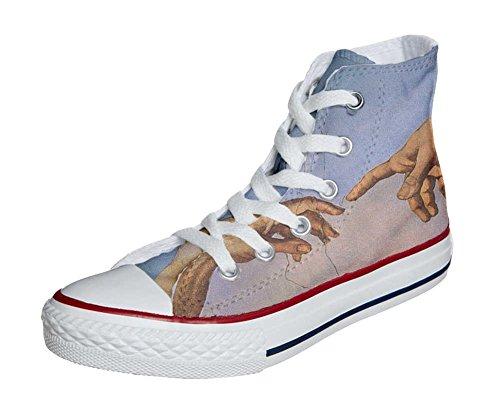 Converse Customized Chaussures Personnalisé et imprimés UNISEX (produit artisanal) giudizio universale - size EU41