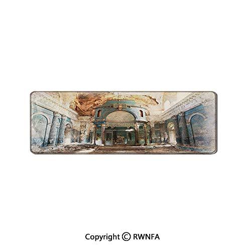 (Old Ancient Abandoned Renaissance Era Architecture with Columns Artwork Print Desktop Rat Pad,(19.7