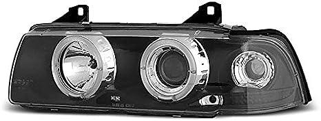 M02 Serie 3 E36 berline 90-99 Angel Eyes Noir Shop Import Paire de Feux phares