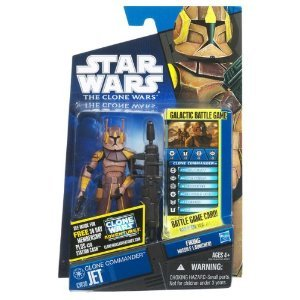 - Hasbro Star Wars 2011 Clone Wars Animated Action Figure CW No. 38 Clone Commander Jet