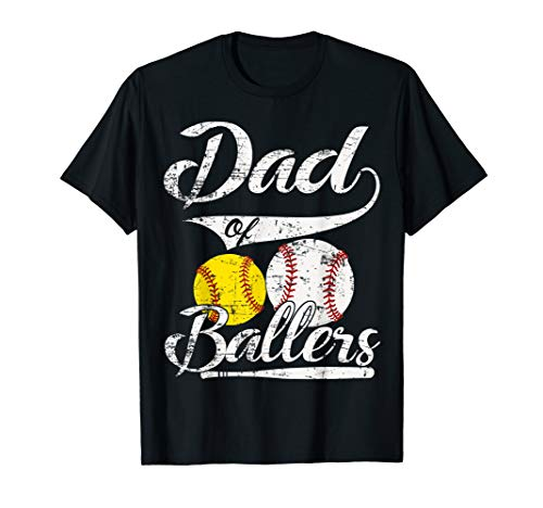 Dad of Ballers T Shirt Funny Baseball Softball Gift from Son T-Shirt