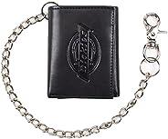 Dickies Carteira masculina de corrente tripla com janela para identidade e bolsos para cartão de crédito, Pret