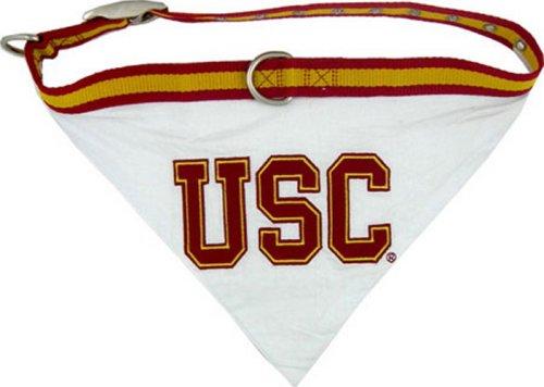 Pets First Collegiate Pet Accessories, Collar Bandana, USC Trojans, (Southern California Fan)