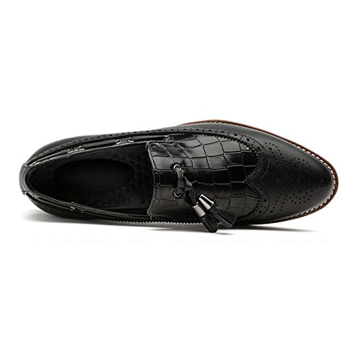 DHFUD Summer Chaussures de Dentelle pour Hommes Marée Casual Chaussures Habillées Black aV10K8t