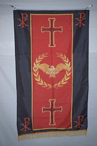 Christian Roman Empire Senate & People of Rome SPQR History Flag Banner Fringe 3×5 For Sale