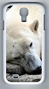 Sleeping Dog Bear PC Hard Case Cover For Samsung Galaxy S4 SIV I9500 Case and Cover White