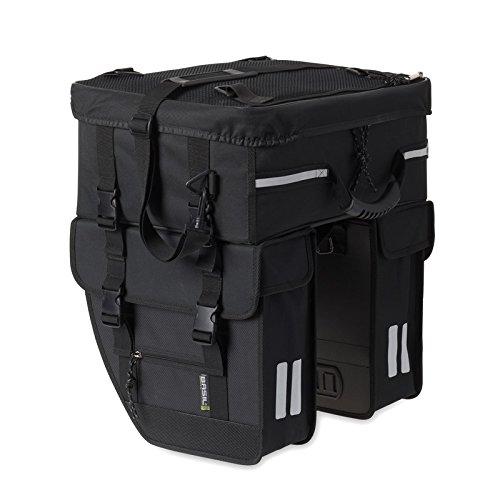 Basil Tour Travel Double Bag mit Topcase - Doppel Radtasche