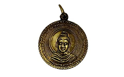 Brassy lord buddha amulet pendant coin blessed for success rich lucky 4 important events with amulet - Roberto Coin Elephant Jewelry Set