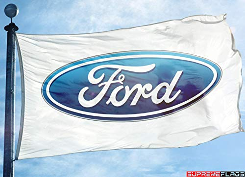 (Ford Flag Banner 3x5 ft Motor Company Car White)