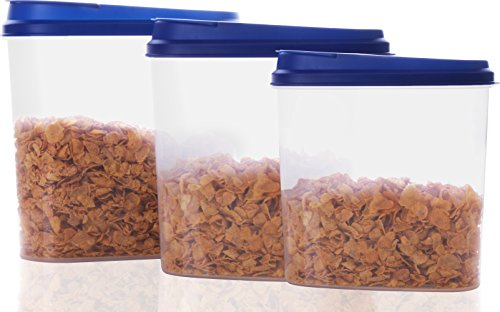 Cereal Container (3 Pack- 1.9 quarts, 2.85 quarts, 4.2 quarts ) - BPA Free, Reusable, Multipurpose Use for Home Kitchen or Restaurant - by Utopia Kitchen