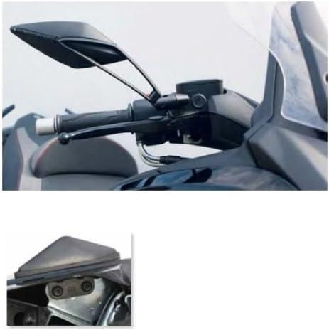 Compatible con Yamaha T-MAX 530 2012-2019 Par de Espejos de Manillar Viper 8 Far 7340+7341 Kit de Montaje espec/ífico G18BB7047D+S Retrovisor homologado Espejo de Aluminio