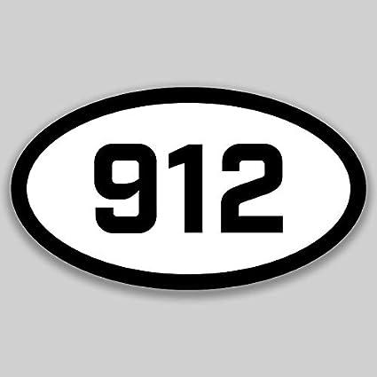 DHDM 912 Area Code Sticker Georgia Savannah Hinesville Statesboro City Pride Love