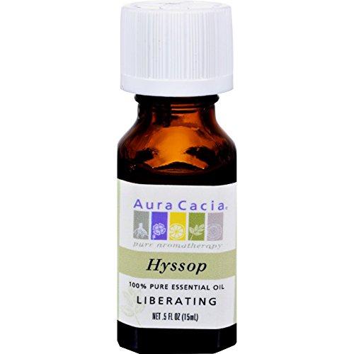 Aura Cacia 100% Pure Essential Oil Hyssop Liberating - .5 oz