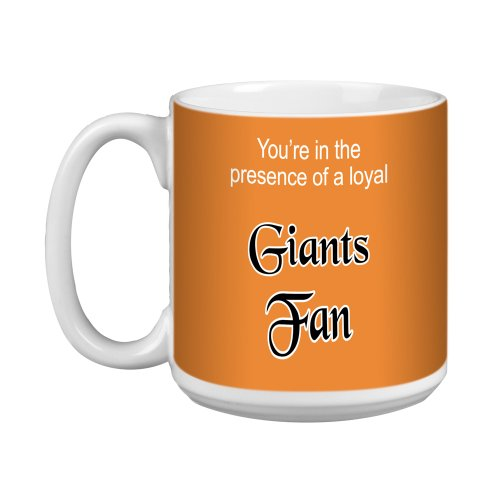 Tree-Free Greetings XM28100 Giants Baseball Fan Artful Jumbo Mug, 20-Ounce