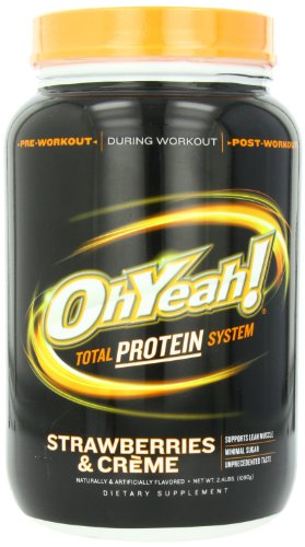 ISS Research OhYeah! Total Protein System, Strawberries and Creme, 2.4 Pound