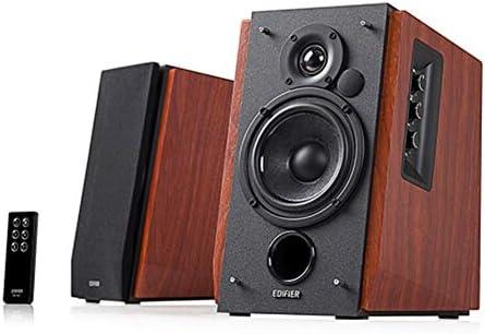 """KALMAR R1700BT 4"""" 2.0コンピューターオーディオ、マルチメディアオーディオ、ブルートゥーススピーカー、ステレオ、スピーカー (Color : Brown)"""