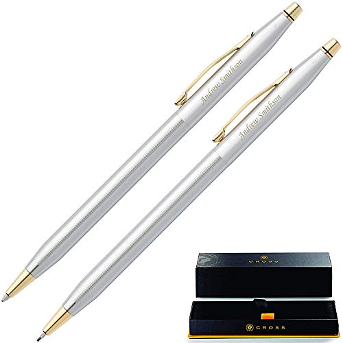 Engraved Cross Pen Set | Personalized Cross Classic Century Medalist Pen & Pencil Set 330105. Custom Engraved With Name or Message By Dayspring Pens.