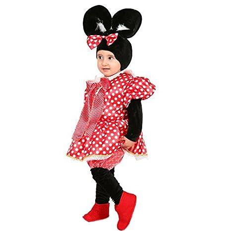 7551209e0044 VESTITO COSTUME Maschera di CARNEVALE baby - Minnie TOPOLETTA - Taglia 3/4  anni -